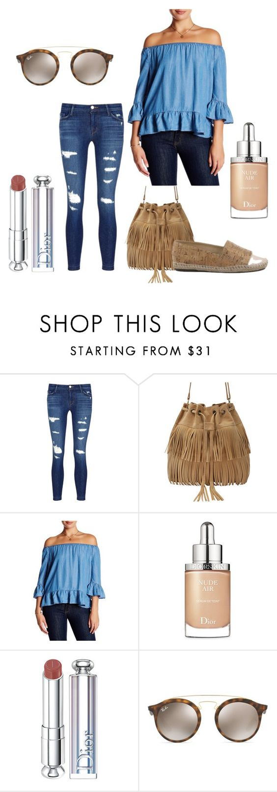 """""""Ita_01"""" by la-ballona ❤ liked on Polyvore featuring J Brand, Want & Need, Christian Dior and Ray-Ban"""