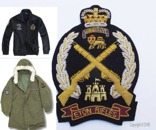 Eton Rifles Patch Blazer Badge Parka Lambretta Vespa Scooter Paul ...