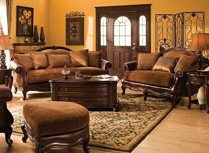 Natalia Traditional Chenille Living Room Collection