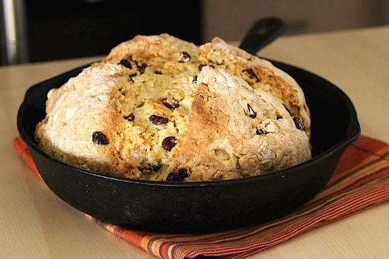 An Easy Irish Soda Bread Recipe for St. Patrick's Day >> http://blog.diynetwork.com/maderemade/how-to/how-to-make-irish-soda-bread-for-st-patricks-day/?soc=pinterest