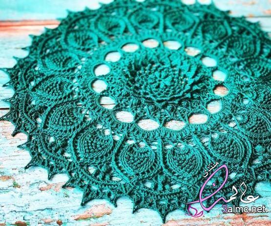 مفارش كروشيه مفارش كروشية دائرية مفرش كروشيه دائري صغير مفرش كروشيه مستطيل سحري Crafts Knitting Crochet