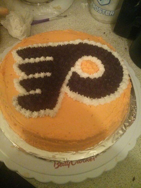 Philly flyers logo hockey cake