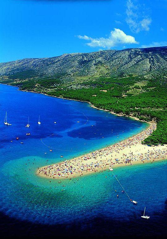 Playa de Zlatni Rat, Bol, Croacia