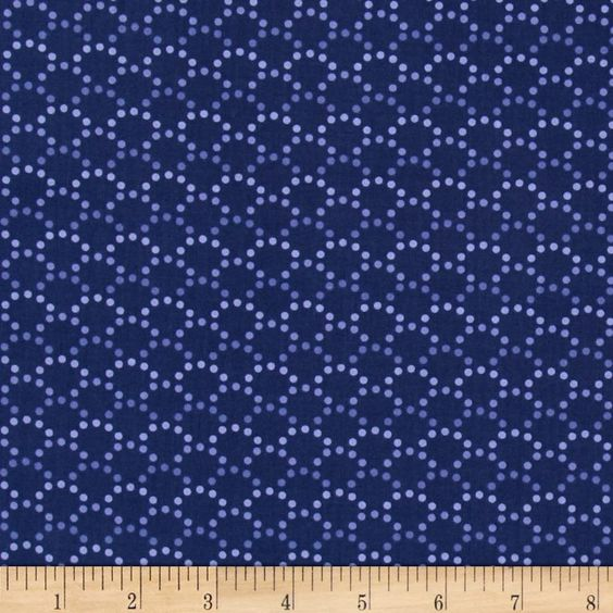 Monterey Dotted Arcs Navy Blue from @fabricdotcom  Designed by Studio 8 for Quilting Treasures, this cotton print is perfect for quilting, apparel and home decor accents.  Colors include shades of blue and shades of purple.