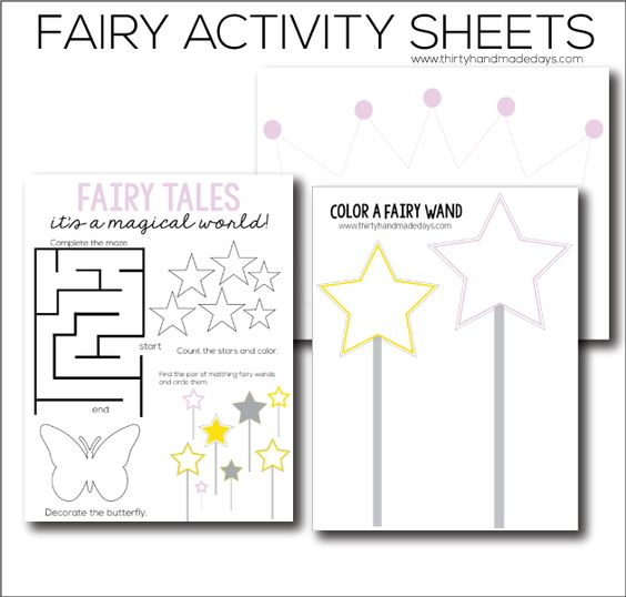 Fairy Printable Worksheets Activities The Fairy And