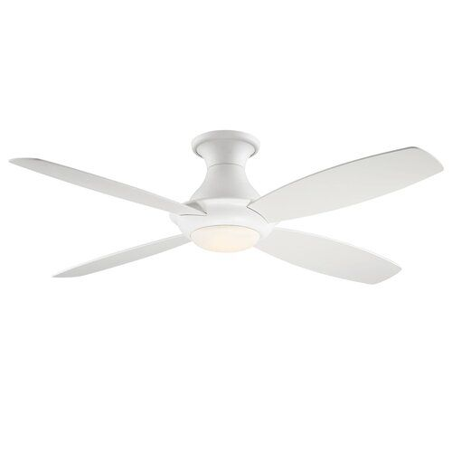 Latitude Run Gean 4 Blade Led Ceiling Fan With Remote Light Kit Included Wayfair Ceiling Fan Led Ceiling Fan Ceiling Fan With Remote
