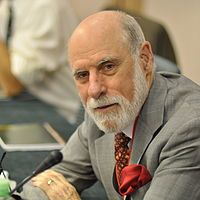 """Vinton Gray """"Vint"""" Cerf (born June 23, 1943) is an American computer scientist, who is recognized as one of """"the fathers of the Internet"""", sharing this title with American computer scientist Bob Kahn. His contributions have been acknowledged and lauded, repeatedly, with honorary degrees and awards that include the... Learn more... #fathersoftheinternet #ComputingMachinery"""