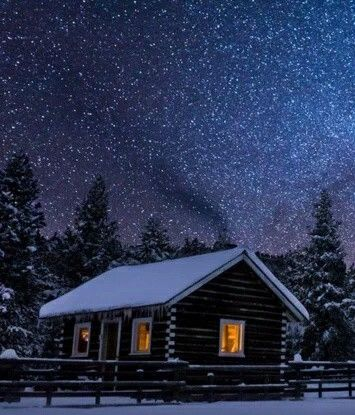 Winter in Montana, USA.