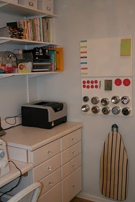 Remodelaholic | Craft Haven: Guest Craft Room Before and After