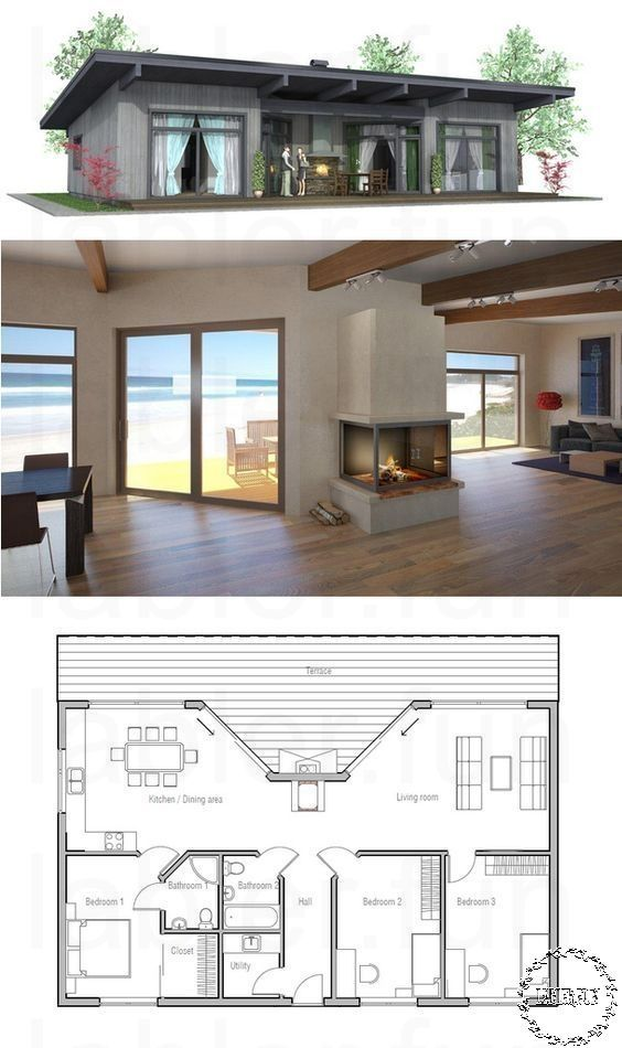 Small House Plans In South Africa Two Bedroom Africa Bedroom House Modernhomeofficedesi In 2020 House Plans Small House Plans Beach House Plans