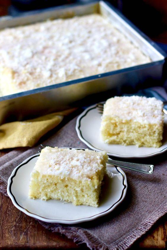 Lemon Buttermilk Sheet Cake With A Lemon Sugar Glaze Sheet Cake Citrus Desserts Best Muffin Recipe