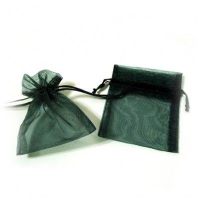 """Hunter Green Organza Bags (Set of 10)   Nuptial Knick Knacks    Available is five popular sizes, our bags are made of high quality organza sheer, with a satin drawstrings. Our organza bags have a wide range of use for your bridal needs. They work great for bridesmaids' and guest gift packaging as well as candies and almonds. Choose from 5 different sizes:  3"""" x 4"""", 4"""" x 6"""", 5"""" x 7"""", 6"""" x 10"""" and 6.5"""" x 15""""(Perfect for wine and liquer bottles)"""