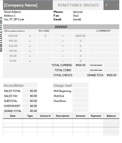 Remittance Advice Template Templates Business Format Diy Templates