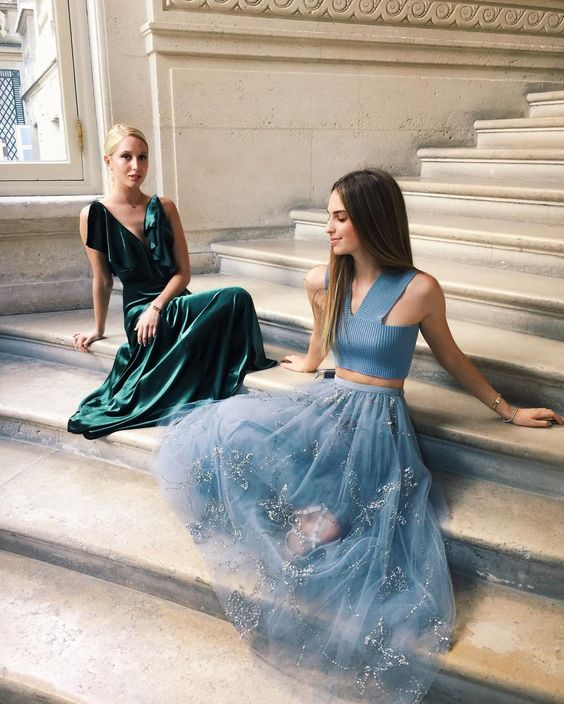 Princess Maria-Olympia of Greece and Denmark and Talita von Furstenberg. July 2016