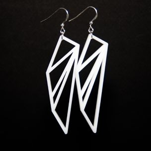 Earrings representing cities in the Bay Area, $75