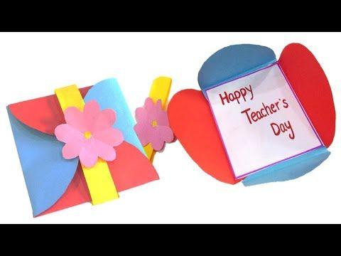 Diy Teacher S Day Card 2020 Handmade Teachers Day Card Making Idea How To Make Card For Teacher Youtube In 2020 Teachers Day Card Teachers Diy Teacher Cards