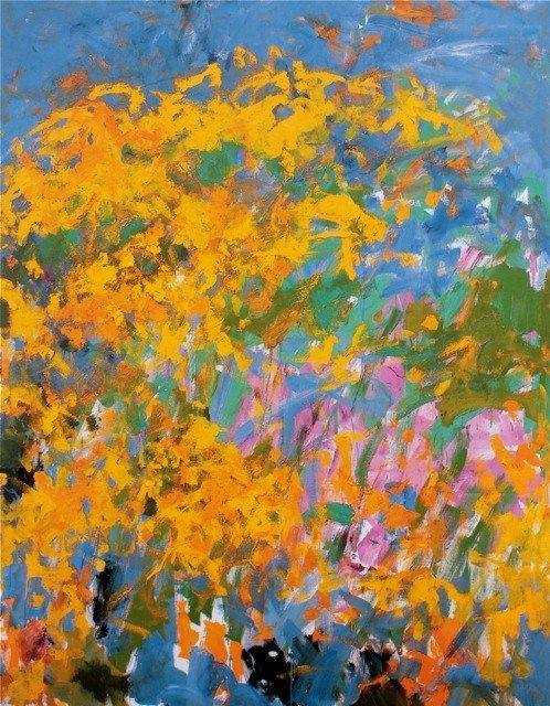 Joan Mitchell La Grande Vallee 0 1983 Oil On Canvas 102 X 78 3 4 In Private Collection Joan Mitchell Abstract Art Painting Abstract