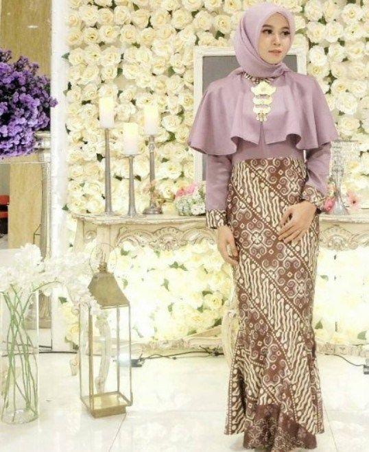 Model Gamis Duyung Kombinasi Batik Wanita Pakaian Pesta Pakaian Wanita