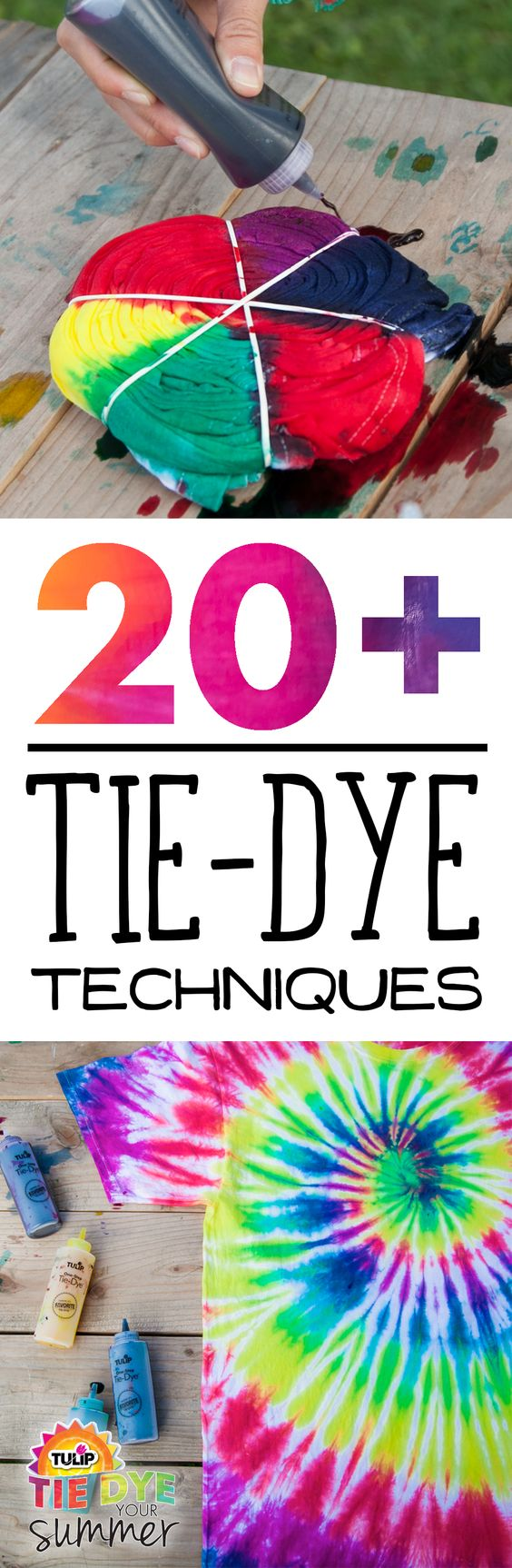 Tie Dye Your Summer is loaded with tons of cool tie dye projects, videos, and inspirations. Check it out for all your tie dye pattern and technique ideas this summer. #tiedyeyoursummer