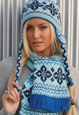 Wahalla Fairisle Scarf & Hat Pattern free pattern
