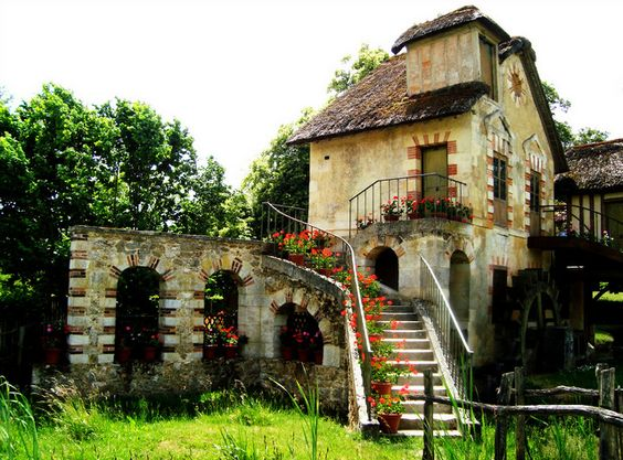 The Queen's Hamlet, the taste for rustic style of Marie-Antoinette, created in the spirit of a true Normandy village (Versailles, France)
