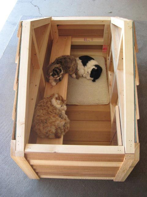 Free insulated cat house plans for Cat home decorations