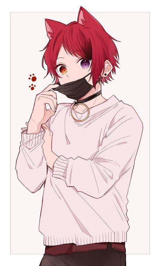 Aesthetic Drawing Boy Easy Aesthetic Aestheticallypleasing Chillvibes Anime Cat Boy Wolf Boy Anime Anime Boy Hair