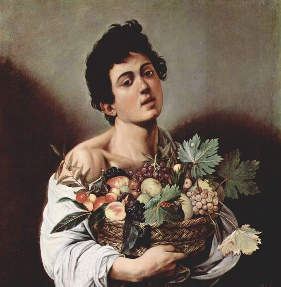 Boy with a Basket of Fruit by Caravaggio (c.1593)