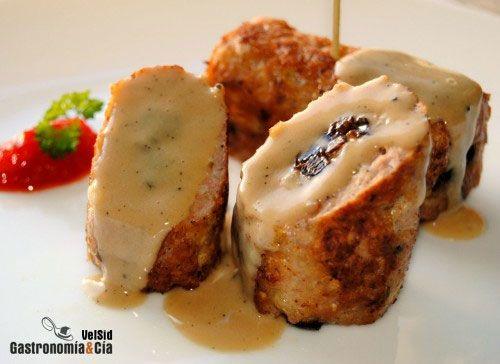 Rollitos de pollo relleno de ciruelas | Recipe | Navidad