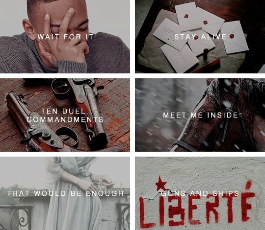 (3/8) Hamilton: An American Musical songs in pictures I Credit to strange constellation on tumblr
