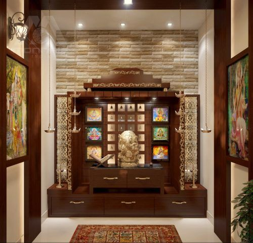 9 Wooden Pooja Mandir Designs For Homes