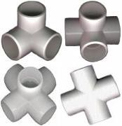 pvc fittings | Furniture grade PVC Fittings used for building PVC pipe structures ...