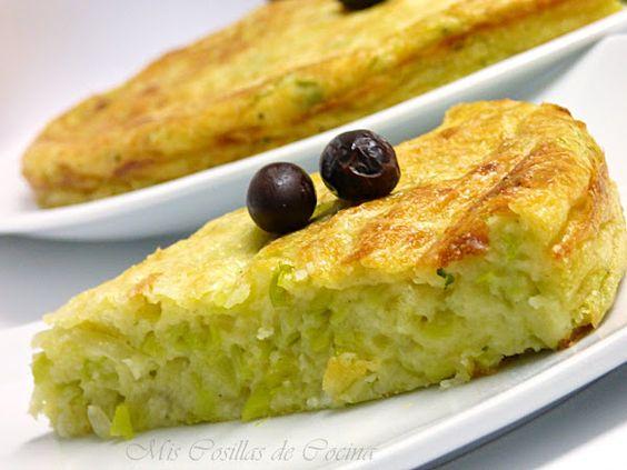 Pastel de puerros y queso fresco