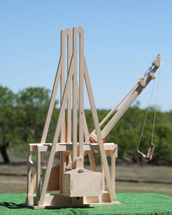 how to build a mini trebuchet