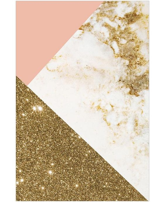 pink and gold marble collage as wallpaper by cafelab