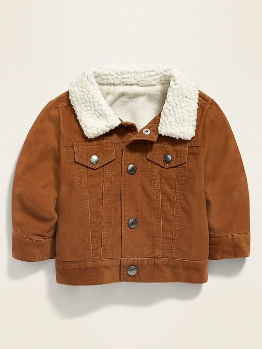 old navy toddler boy Sherpa cotton lined Zip Up Vest grey or brown