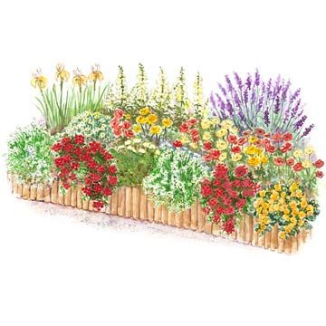 Decks plants and gardens on pinterest for Flower garden planner