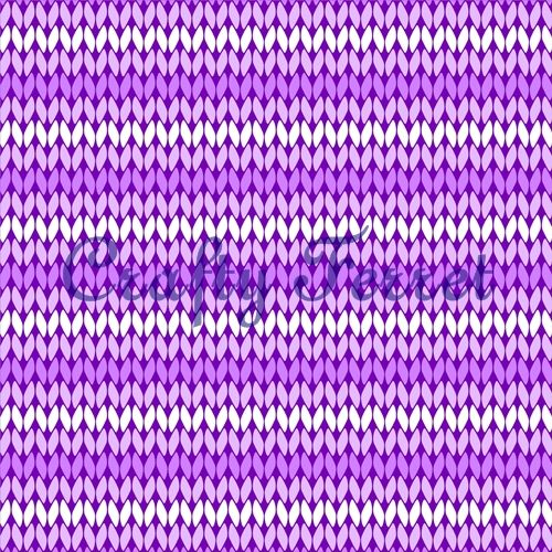 Purple stocking stitch knitted effect craft backing paper from Crafty Ferret