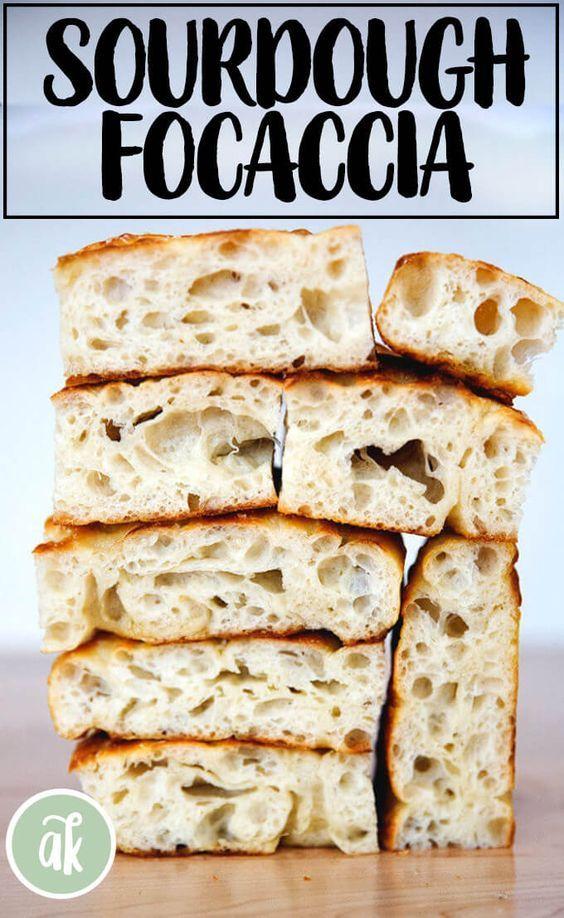 Simple Sourdough Focaccia Di 2020 Resep Makanan Roti Resep Roti
