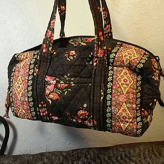 "Sale! Vera Bradley shoulder bag 12"" w x 6"" h x 5"" deep.  Good used condition.  No stains, rips or holes.  Slightly faded.  1 exterior pocket and 6 interior pockets.  Handle has a 12"" drop.  #206-436 Vera Bradley Bags Shoulder Bags"