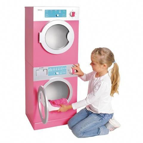 Kids Toddlers Interactive Pretend Play Toy Stackable Washer