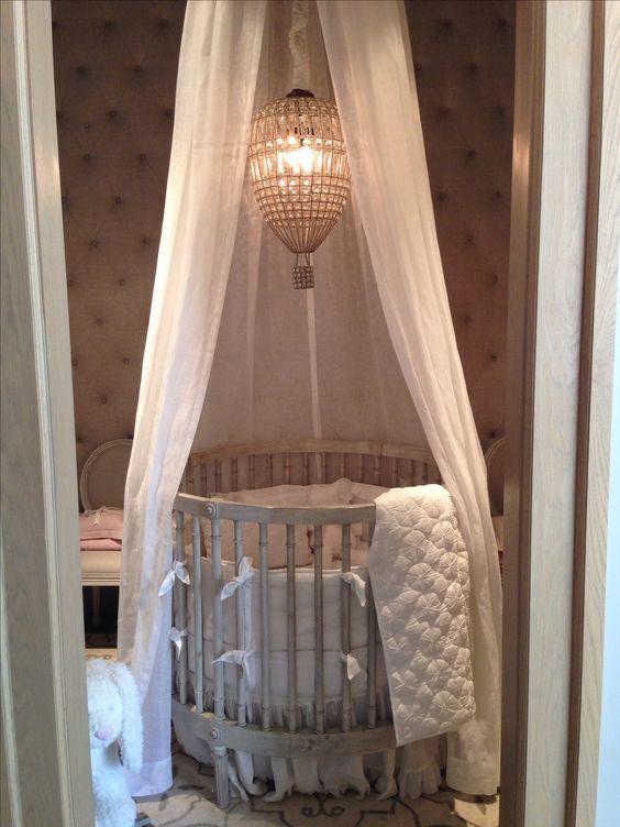 Restoration hardware baby and child. Girls bedroom furniture and decoration ideas baby furniture. Round crib like kim kardashians baby north