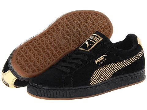 Puma Suede Black And Brown