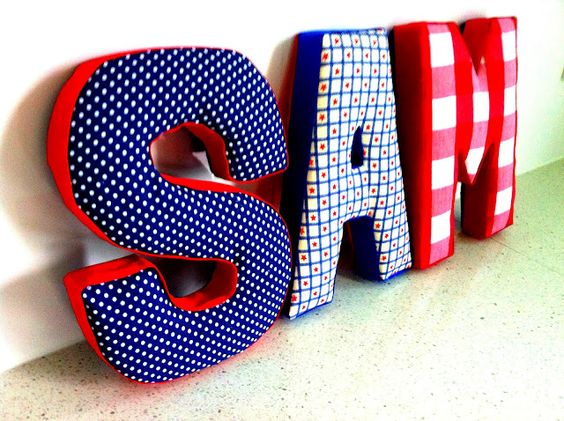 How to cover paper mache letters with fabric craft for How to cover cardboard letters with fabric