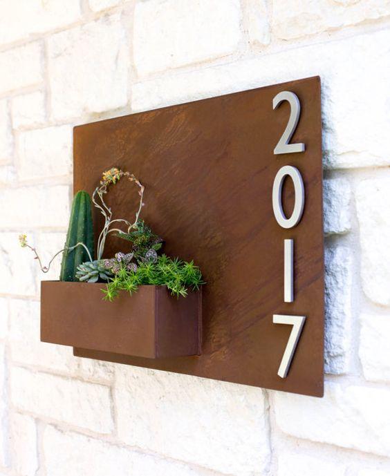 20 x 30 plantador de colgar y placa Dirección Metal por UrbanMettle