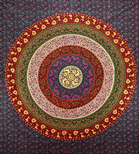 Indian Mandala Wall Hanging Tapestry, Pyshedlic Tapestries, Hippie Hippy Style, Dorm Decor Mandala Tapestry, Bohemain Boho Tapestry, Throw Bedding Bedspread, Decorative Wall Art, Picnic Beach Sheet, Table Cloth, Dorm Tapestries, 86x94 Inch. By Bhagyoday BhagyodayFashions http://www.amazon.co.uk/dp/B00YX90554/ref=cm_sw_r_pi_dp_FUj1vb1PT1F0M