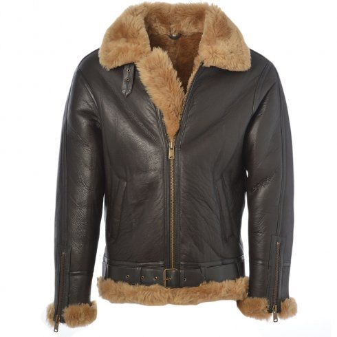 Ashwood Leo Ginger - Sheepskin Flying Jacket | Mens Sheepskin ...