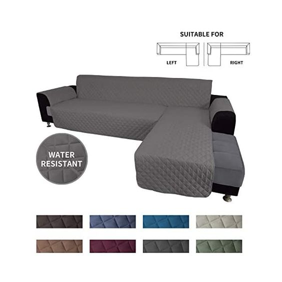 Easy Going Sofa Slipcover L Shape Sofa Cover Sectional Couch Cover Chaise Lounge Slip Cover Reversible Sofa Cover Furniture Protector Cover For Pets Kids Children Dog Cat X Large Gray Gray In 2020 Sofa Covers
