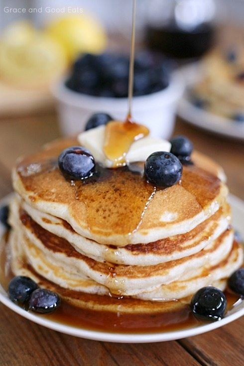 Homemade Blueberry Buttermilk Pancakes Recipe In 2020 Homemade Pancakes Buttermilk Pancakes Homemade Pancake Recipe