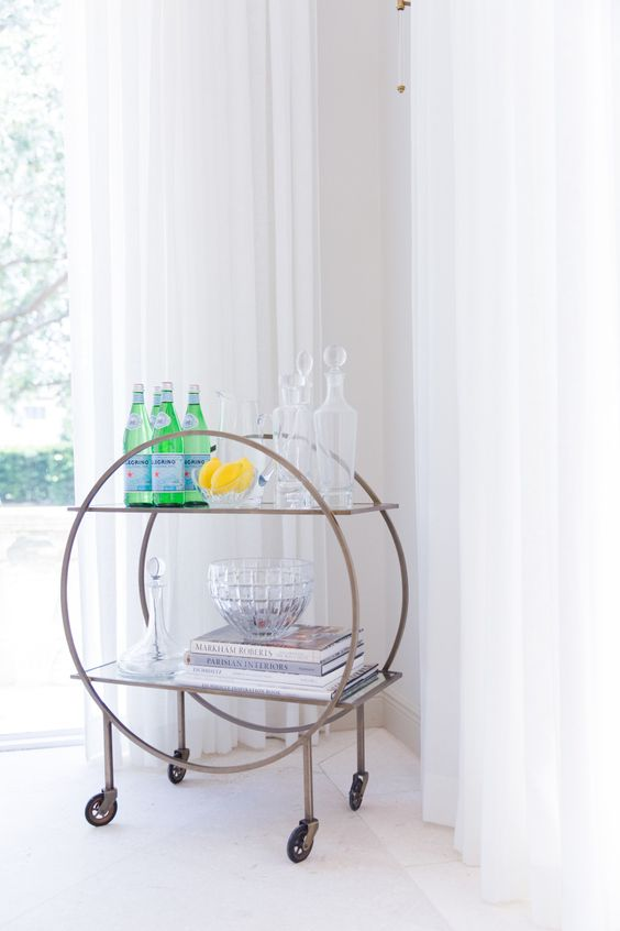 Modern drink cart: Photography: Simply Lively - www.simplylively.us/   Read More on SMP: http://www.stylemepretty.com/2016/08/08//